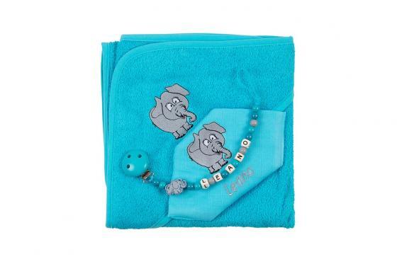 Set cadeau éléphant - personnalisable, 3-pièces