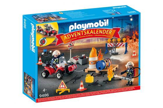 Calendrier de l'Avent Pompier et incendie de chantier - Playmobil® Playmobil Noël 9486