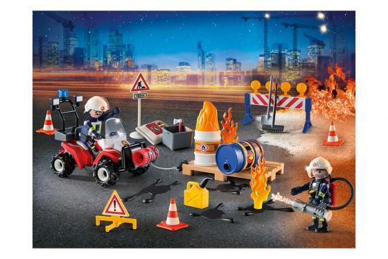 Calendrier de l'Avent Pompier et incendie de chantier - Playmobil® Playmobil Noël 9486 1