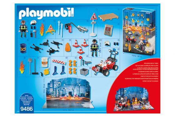 Calendrier de l'Avent Pompier et incendie de chantier - Playmobil® Playmobil Noël 9486 2
