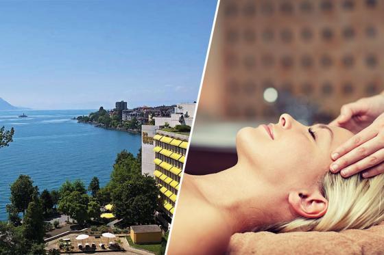 Moment de détente à Montreux - Pour 1 personne, soin du visage, massage du crâne et spas  [article_picture_small]