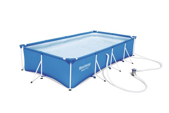 Swimming Pool von Bestway - Komplett-Set - 400x211x81cm 1