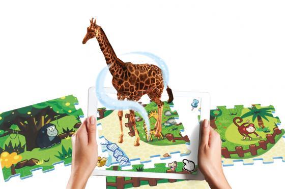 Interaktive Puzzlematte - 3D Spielteppich Animal Land 1