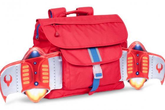 Schulrucksack   - Rakete rot