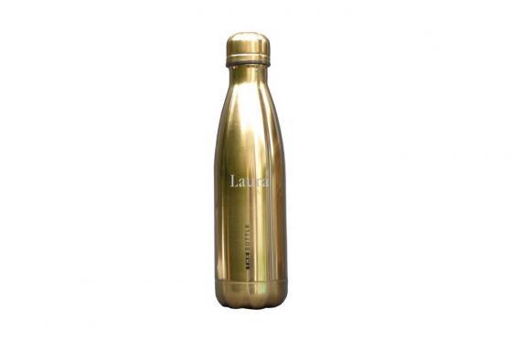 Thermosflasche Chrom - Gold, 0.5 Liter