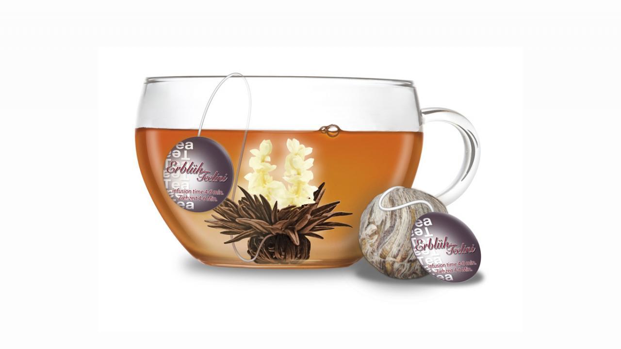 Coffret cadeau fleurs de thé - Avec tasse, thé noir ... 64e885bd065