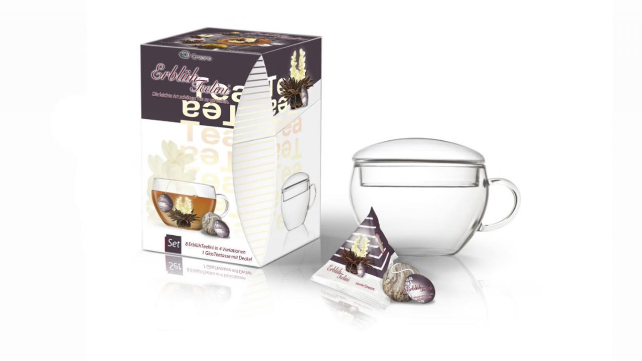 ... Coffret cadeau fleurs de thé - Avec tasse, thé noir ... a1718fd464a