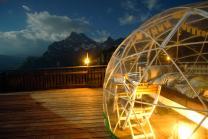 Bubble-Suite Nacht - mit Sternen Panorama für 2