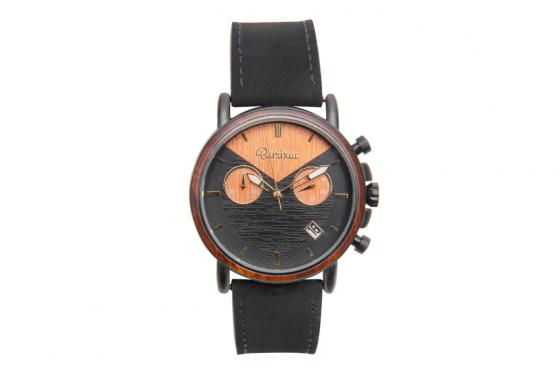 Montre en bois Bambuu - The Black Pearl Chrono