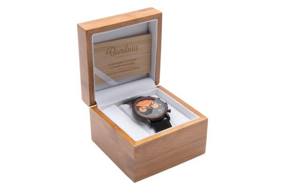 Montre en bois Bambuu - The Black Pearl Chrono 3