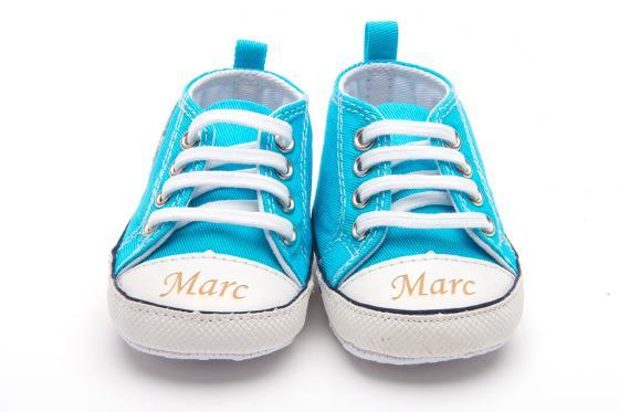 Chaussures bébé avec gravure - Chuck blue,  6 - 12 mois 1