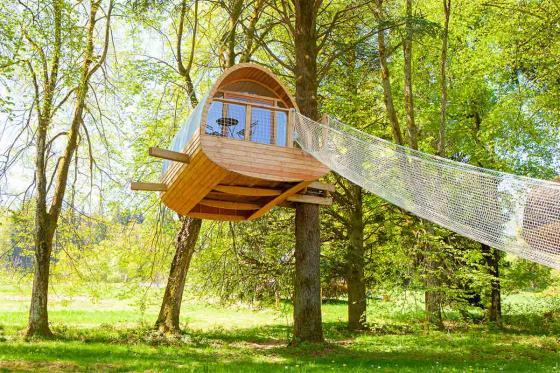 Nuit insolite dans une cabane - 1 nuit dans les arbres pour 2 personnes avec petit déjeuner   [article_picture_small]