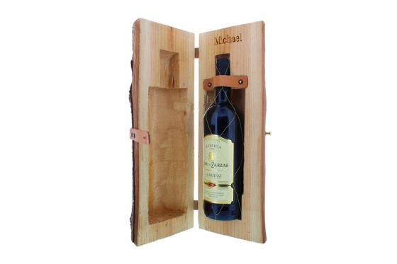 Weinholzkiste mit Gravur - Spanischer Rotwein