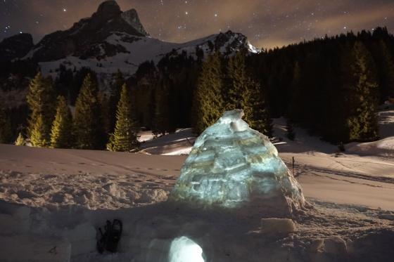 Übernachtung im Iglu - mit Schneeschuhwanderung im Fackelschein und Schlittelplausch 1 [article_picture_small]