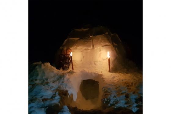 Übernachtung im Iglu - mit Schneeschuhwanderung im Fackelschein und Schlittelplausch 2 [article_picture_small]