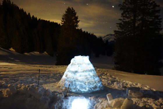 Übernachtung im Iglu - mit Schneeschuhwanderung im Fackelschein und Schlittelplausch 3 [article_picture_small]