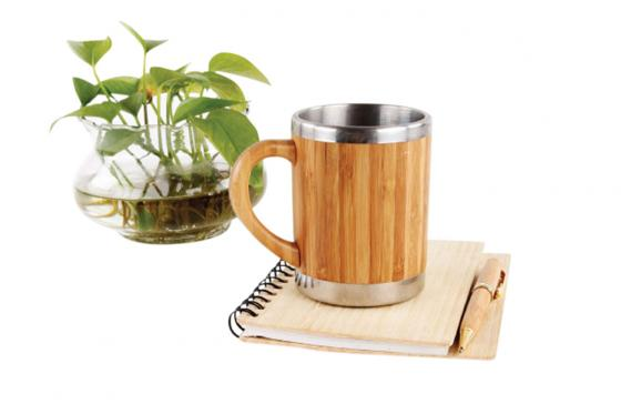 Tasse en bambou - Avec revêtement intérieur en inox