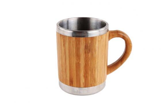 Tasse en bambou - Avec revêtement intérieur en inox  1