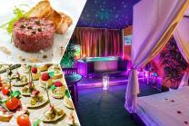 Spa privatif & repas - Tartare maison ou apéritif dînatoire au choix avec spa privatisé