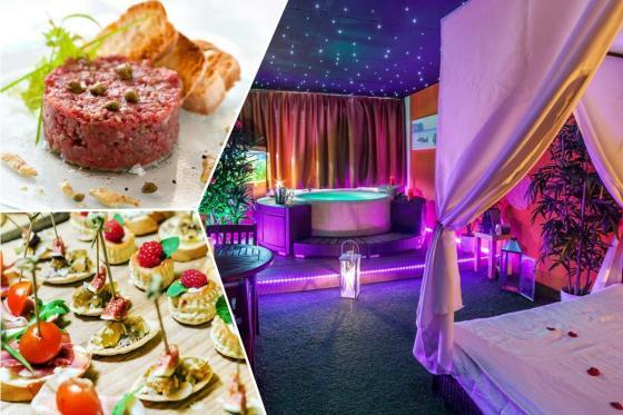 Spa privatif & repas - Tartare maison ou apéritif dînatoire au choix avec spa privatisé  [article_picture_small]