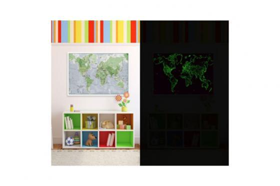Weltkarte - Glow in the dark 4