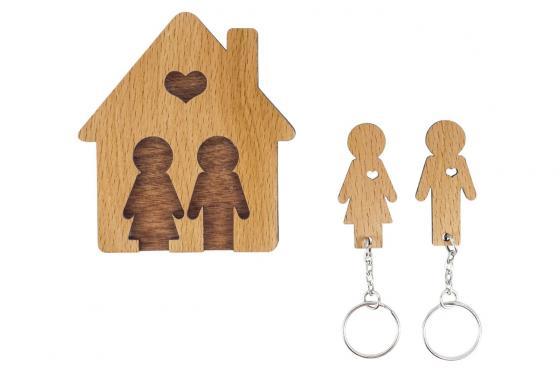 Accroche clé - Pour couple 2