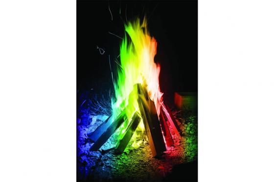 Zauberpulver Regenbogen - Flammenfärbung 10er Pack