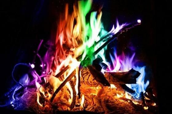 Zauberpulver Regenbogen - Flammenfärbung 10er Pack 1