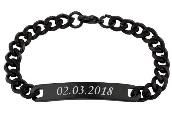 Edelstahl Armband - mit Gravur 1