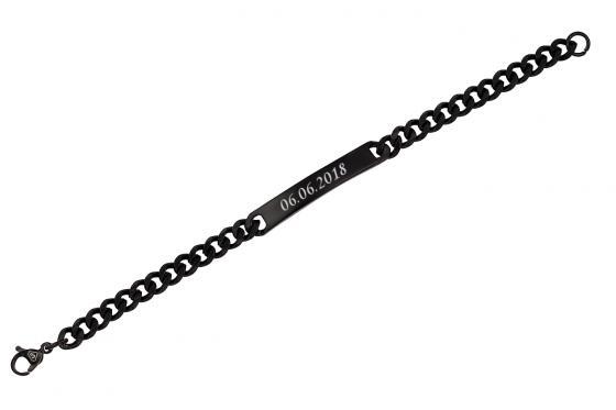 Edelstahl Armband - mit Gravur 2
