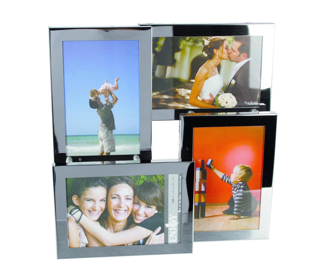 3d edelstahl rahmen f r 4 fotos. Black Bedroom Furniture Sets. Home Design Ideas