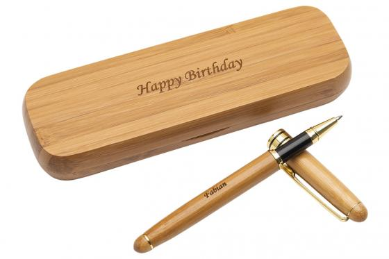 Holz-Kugelschreiber - personalisierbar