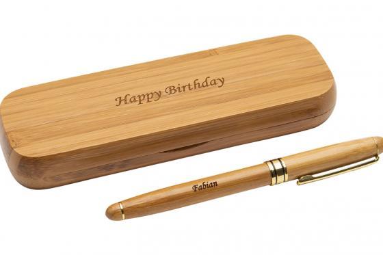 Holz-Kugelschreiber - personalisierbar 2