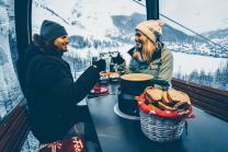 Gondel Fondue für 2 - Einmaliges Dinner-Erlebnis inkl. Wein