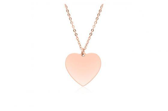 Vergoldete Edelstahlkette Herz - personalisiert 1