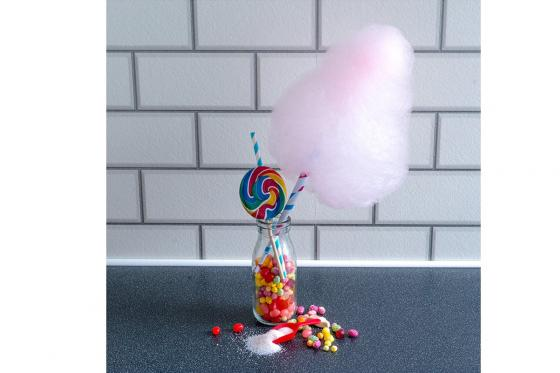 Zuckerwatte Maschine - in pink 2
