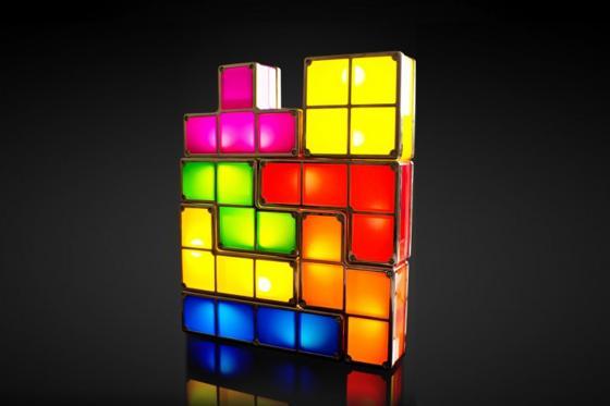 Tetris Lampe - aus Tetris-Bausteinen