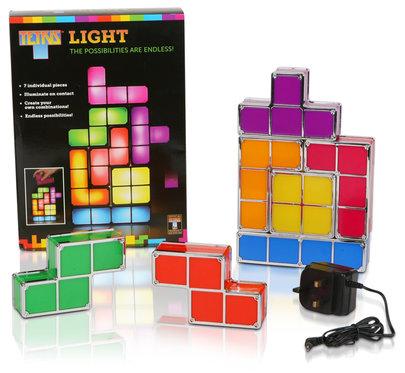 Tetris Lampe - aus Tetris-Bausteinen 1