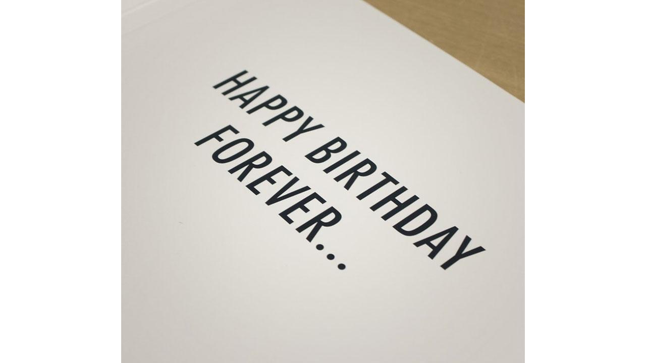 1 Never Ending Birthday Card