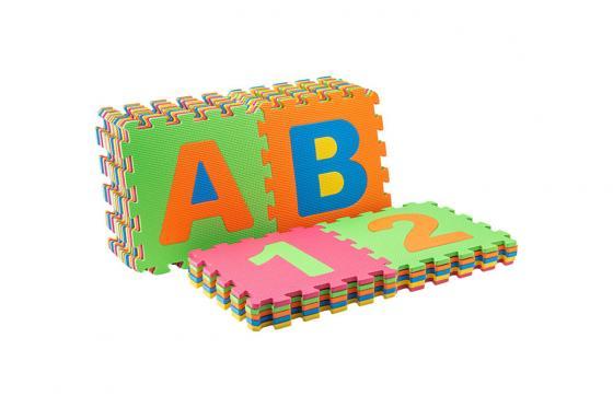 Tapis de jeu souple - alphabet & chiffres