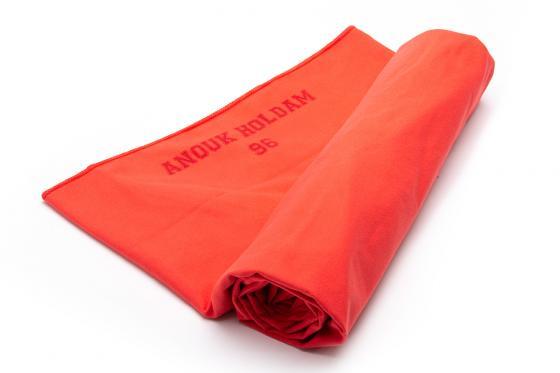 Mikrofaser-Duschtuch rot - mit Gravur