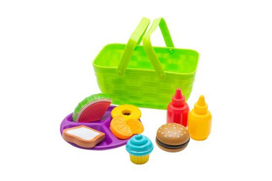 Panier pique-nique vert - Avec accessoires