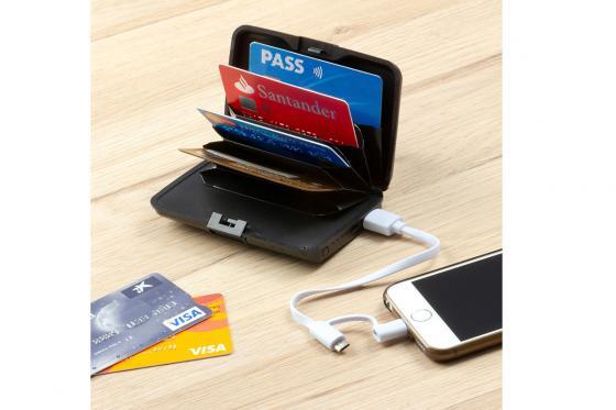 Kreditkartenetui mit Powerbank - 1800 mAh