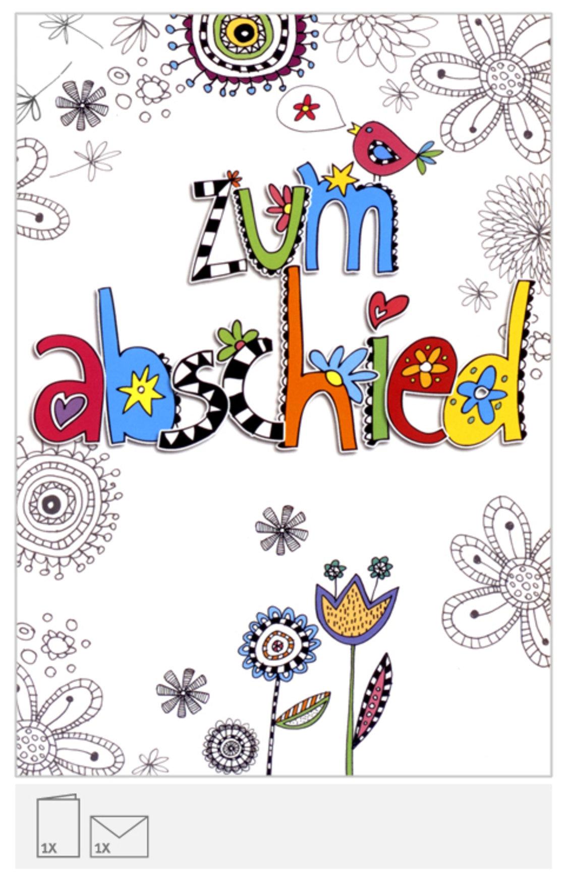 karte zum abschied Karte zum Abschied, originell, mit farbiger S | geschenkparadies.ch