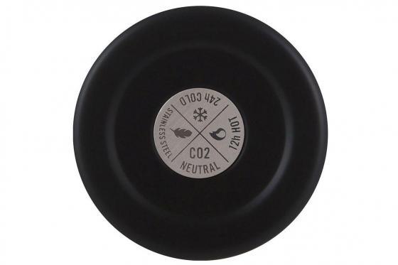 Thermosflasche Tuxedo Black - von 24Bottles, mit Gravur 1
