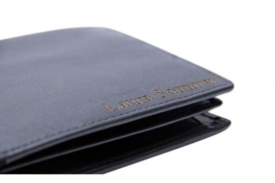 Leder Portemonnaie - mit Lasergravur 1