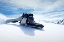 Airboarden im Schnee - einen halben Tag lang