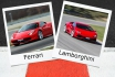 Ferrari oder Lamborghini-2 Runden auf der Rennstrecke 1