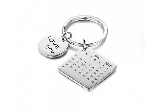 Schlüsselanhänger mit Gravur - Aus Edelstahl  1