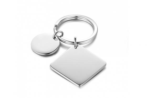 Schlüsselanhänger mit Gravur - Aus Edelstahl  2